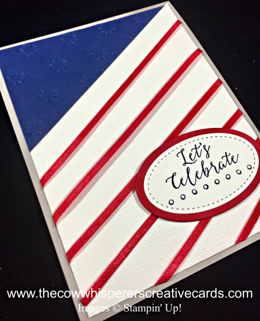 Card, Flag, Detailed with Love, Subtle Embossing Folder, OH My Stars Embossing Folder