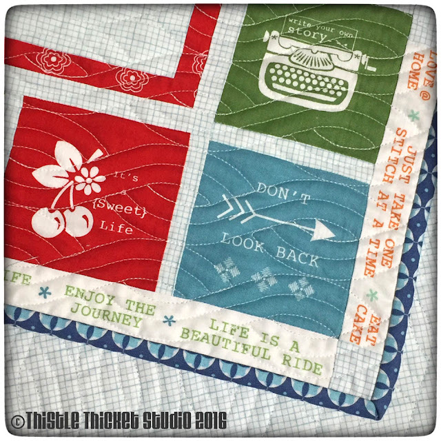 Farm Girl Vintage Layer Cake Block Quilt by Thistle Thicket Studio. www.thistlethicketstudio.com