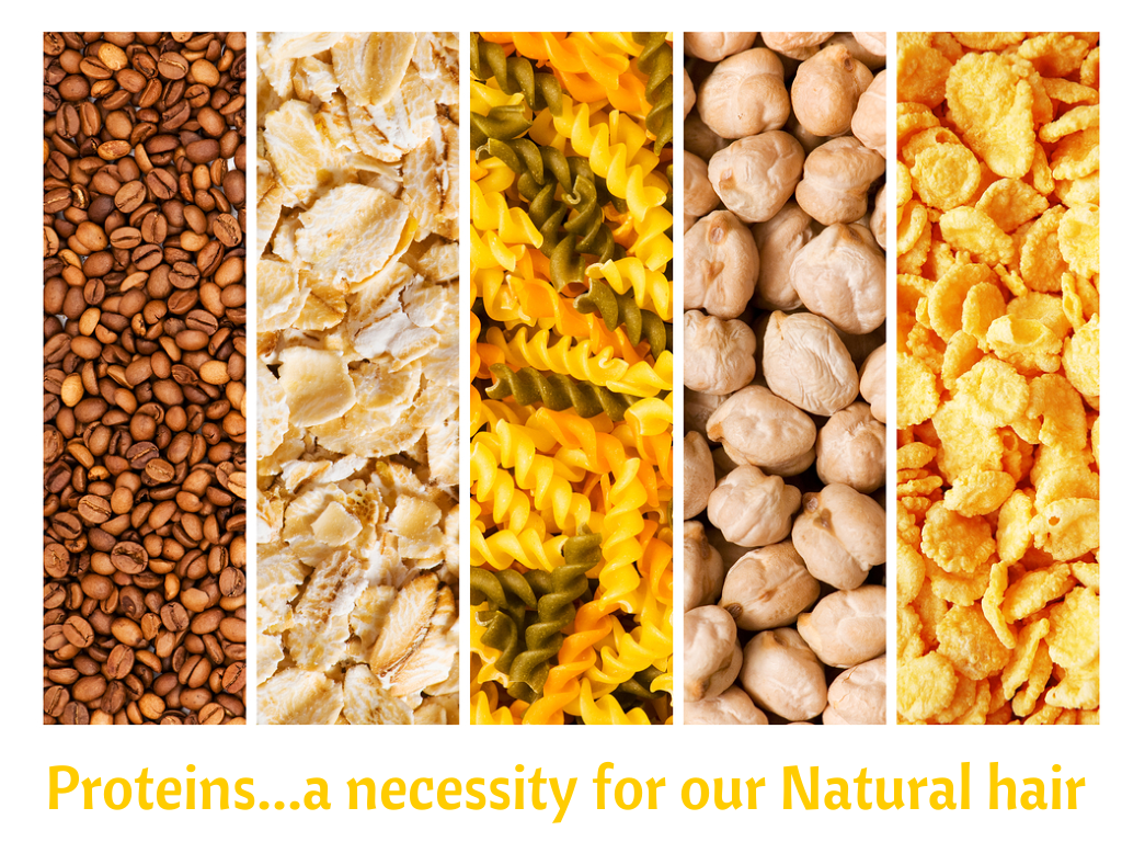Protein, A Necessity For Natural Hair To Keep It Healthy, Strong & Thriving. We share what types of protein there are for your hair and what they can do.