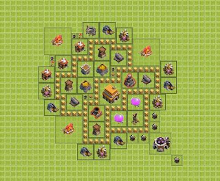 Base Clash of Clans Terbaik TH 5 Hybrid