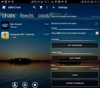 BBM MOD WINDOWS PHONE (WP) TRANS V2.13.0.22