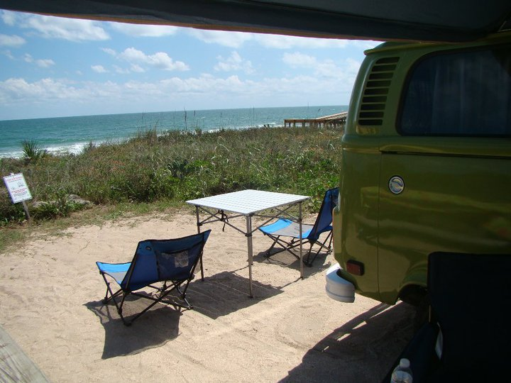 Florida Vw Bus Rentals Camping Adventures Gamble Rogers