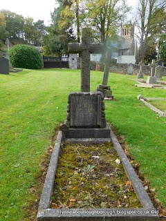 Woodhouse Eaves cemetery showing plot marker