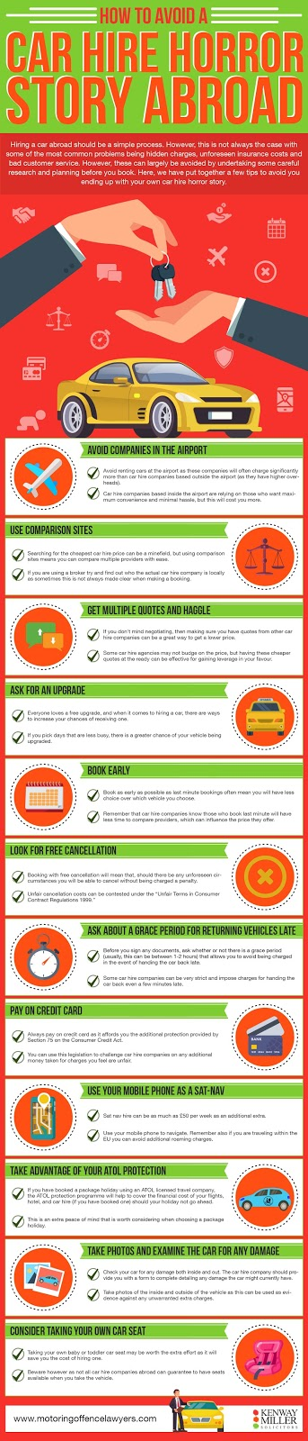 Infographic - how to avoid a car hire horror story abroad