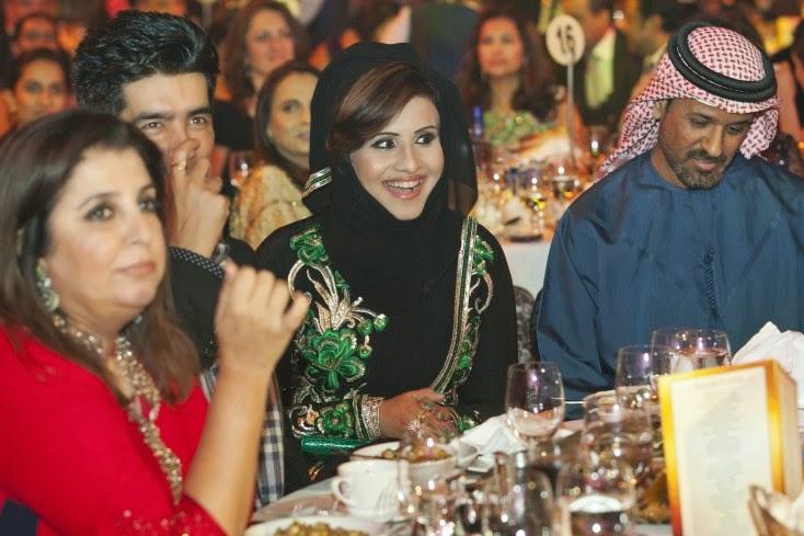 Farah Khan, Manish Malhotra, Mrs Sarah and Mr Saif Belhasa, Masala! Awards 2014 Inside Pics