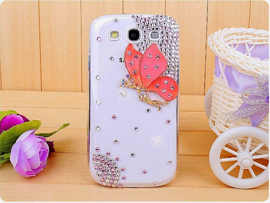 New pink Flying Butterfly girls mobile case cover for iPhones and Samsung