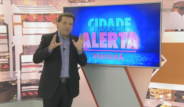 Apresentador tem momento de fúria ao vivo no Cidade Alerta Paraná