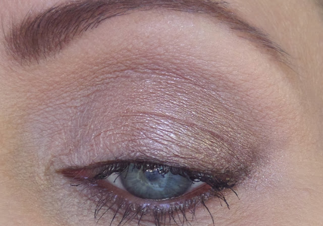 too faced natural love ultimate neutral eye shadow palette on eye