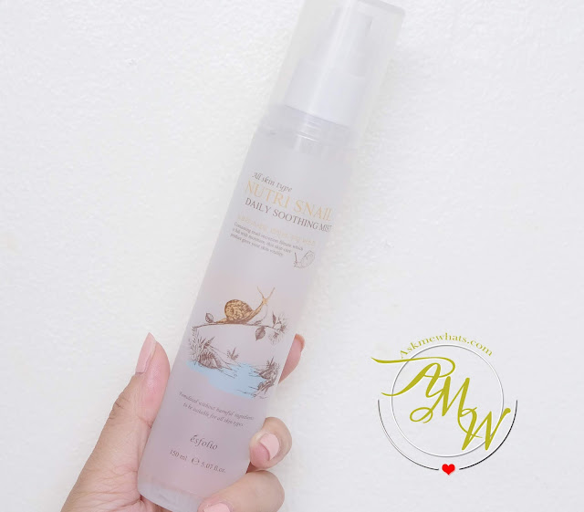 a photo of Esfolio Nutri Snail Daily Soothing Mist Review