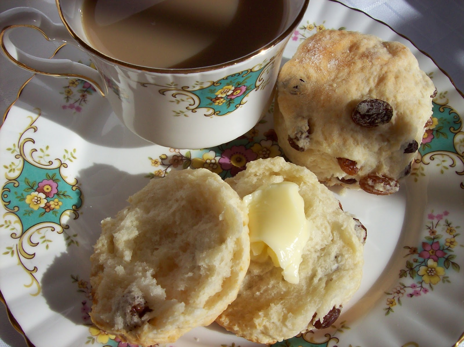Raisin Tea Buns or Scones