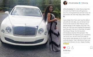 'God's Blessing In My Life Has Confused My Enemies'- Says Linda Ikeji As She Poses With N120m Bentley (Photos)