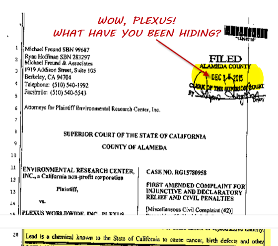 LEAD IN PLEXUS PRODUCTS