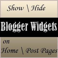 How to Hide Widgets in Homepage and Other Pages of Bloggers
