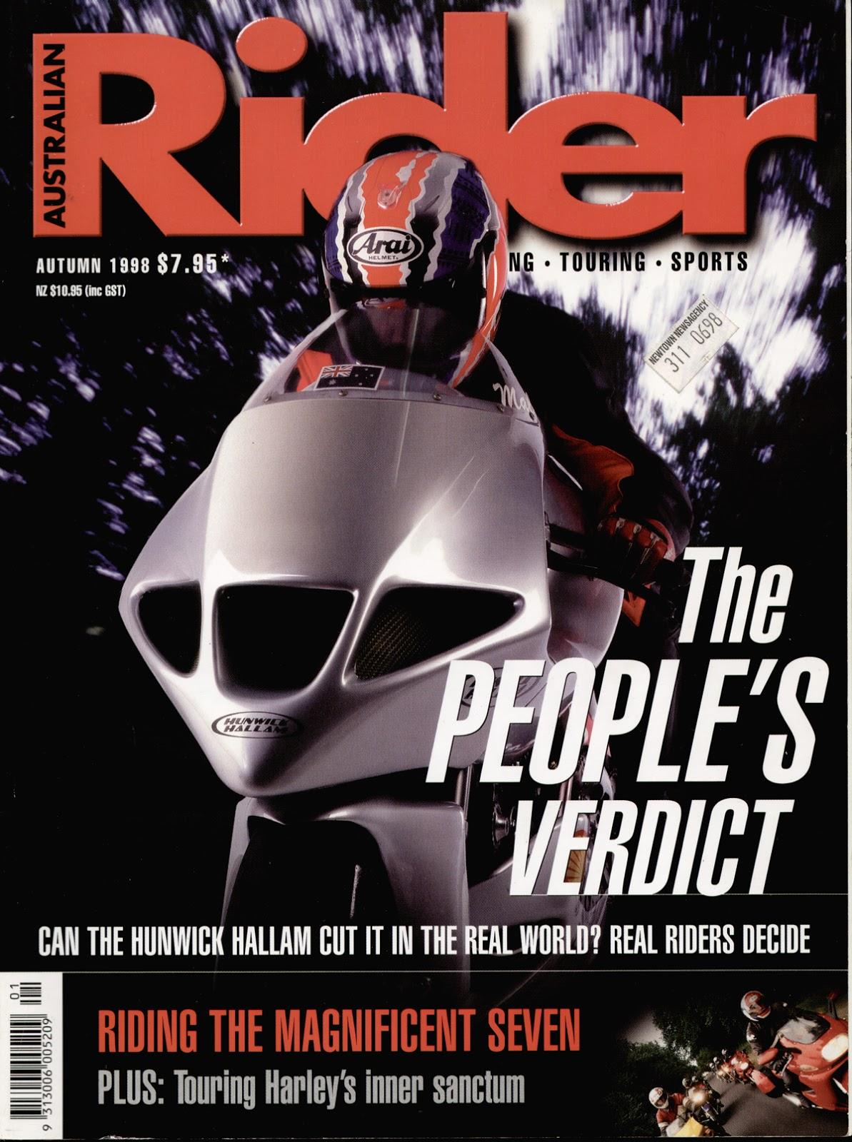 Hunwick Hallam Australian Rider Cover