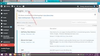 click to add new plugin in dashboard