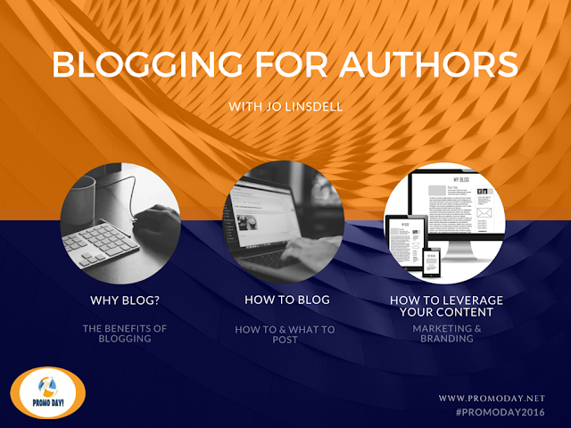 Free Blogging for Authors Webinar www.PromoDay.net @PromoDayEvent #PromoDay2016