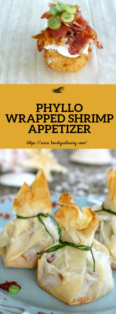 PHYLLO WRAPPED SHRIMP APPETIZER #healthy #appetizer
