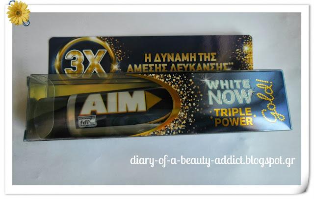 AIM WHITE NOW TRIPLE POWER Gold