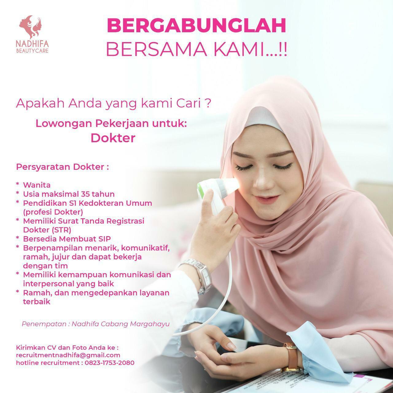 Lowongan Kerja Nadhifa Beauty Care Bandung Maret 2019