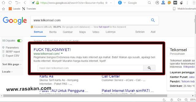 Situs Telkomsel di Hack