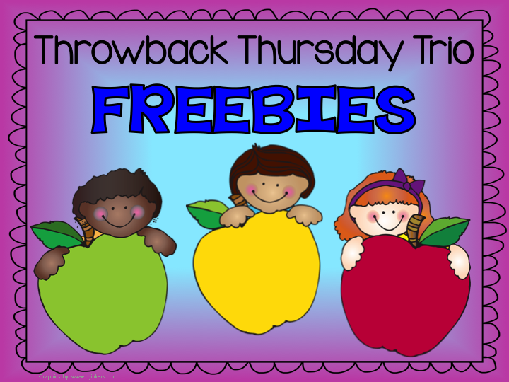 Throwback Thursday Trio FREEBIES - Eight Easter / Spring Subtraction Center Games