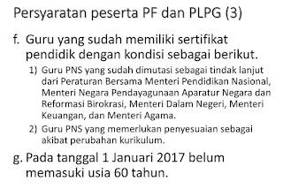 syarat sergur 2016 pola portofolio dan PLPG