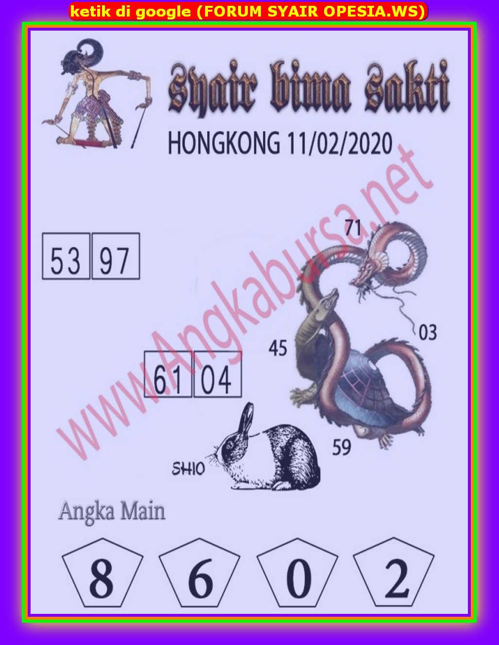 Kode syair Hongkong Selasa 11 Februari 2020 92