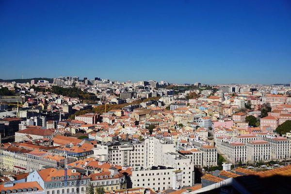 サン・ジョルジェ城から新市街地方面の眺め