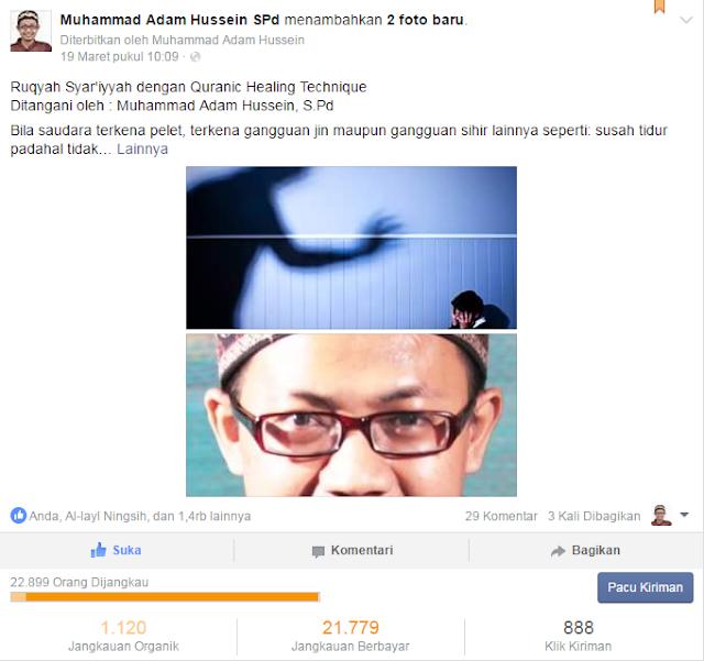 Contoh Status Postingan  FanPage Muhammad Adam Hussein, S.Pd
