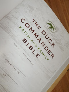 Beautiful Gifting Page:  Duck Commander Bible