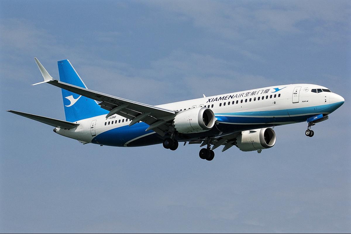 Boeing 737 Max 8 of Xiamen Airlines Landing Gear Retracted Down