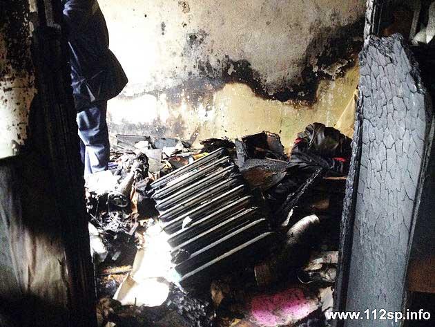Сгорела квартира на Вознесенской Сергиев Посад