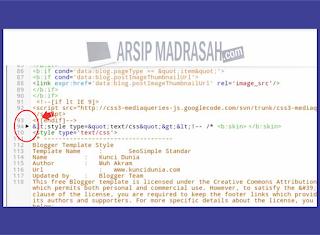 Cara menemukan kode </b: skin > - arsip madrasah