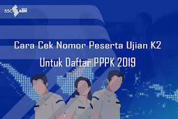 Cara Cek Nomor Peserta Ujian K2 Untuk Daftar PPPK 2019
