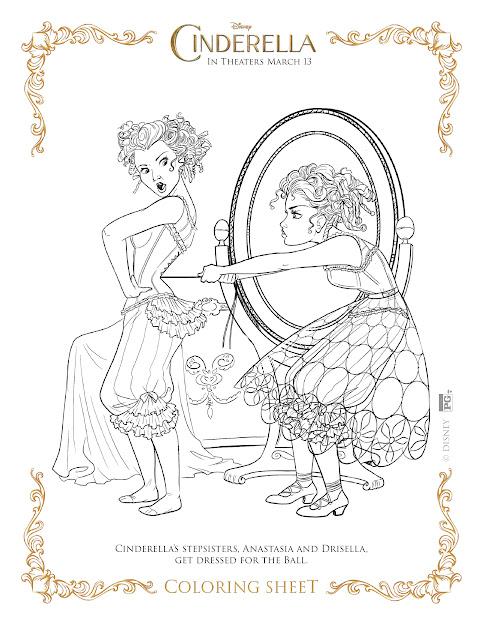 Cinderella Coloring Page  Stepsisters Cinderella Coloring Page   Stepsisters