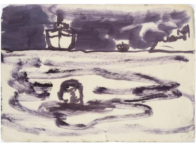 Tanker (Figure in Water), Peter Doig