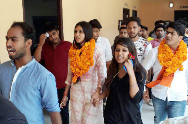 sonia-thakur-abvp-leader-faridabad-ready-for-fight-in-d-u-election