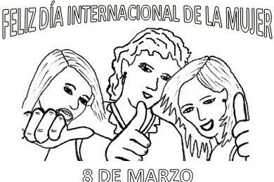 Dibujos Del Dia De La Mujer Para Colorear