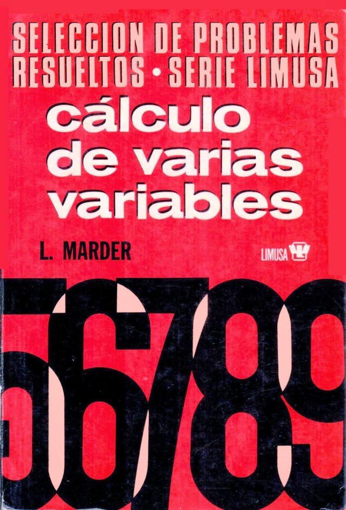Cálculo de varias variables, Volumen 2 – L. Marder