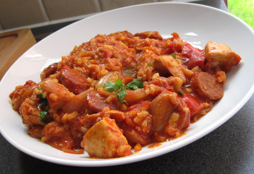 Spanish-style Chicken and Chorizo Stew