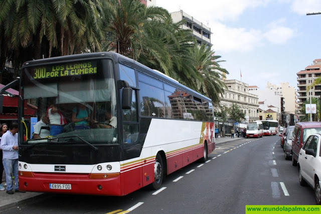 Transportes Insular de La Palma modifica la línea 201 el corte de la carretera LP-2