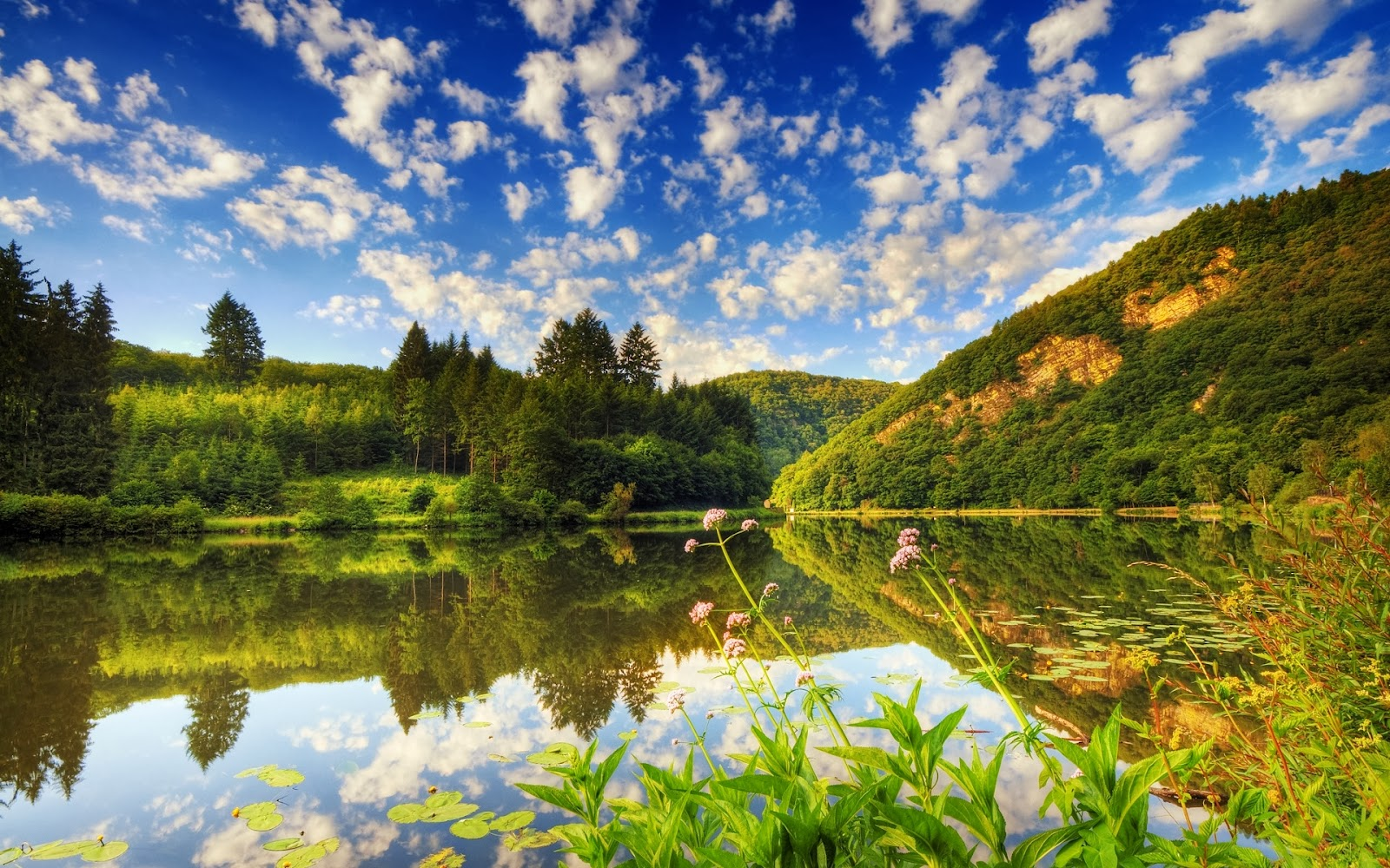 Beautiful Nature Place And Lake Desktop Backgrounds Pictures