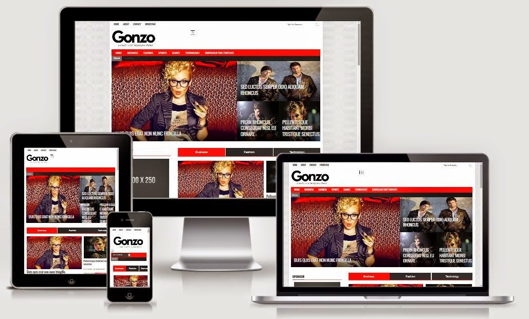 Gonzo Free Blogger Template