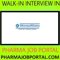 Pharmaffiliates Analytics Synthetics Pvt. Ltd Walk In For Research Associate - R&D at 10 November