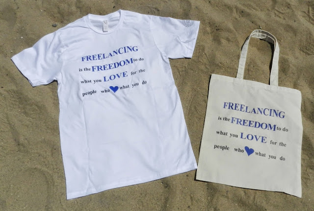 #SpreadTheWordWear Men's Freelancing is Freedom Shirt and Tote
