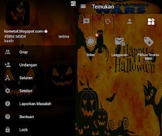 BBM Mod Halloween v3.0.1.25 Apk Oktober Terbaru