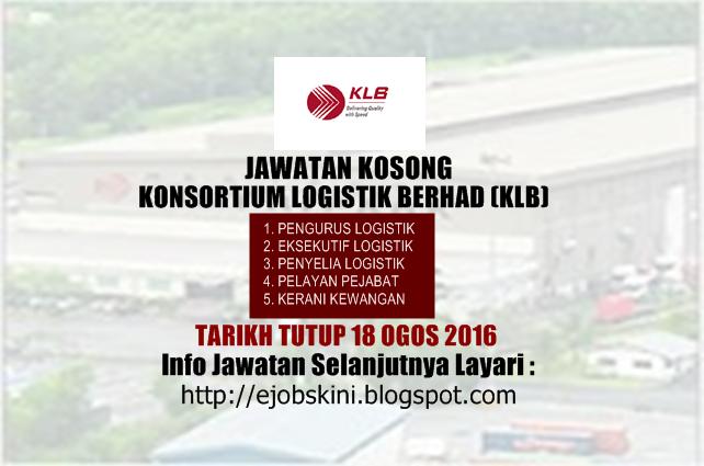 Jawatan kosong di konsortium logistik berhad (klb)