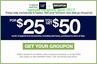 Gap coupons for april 2017