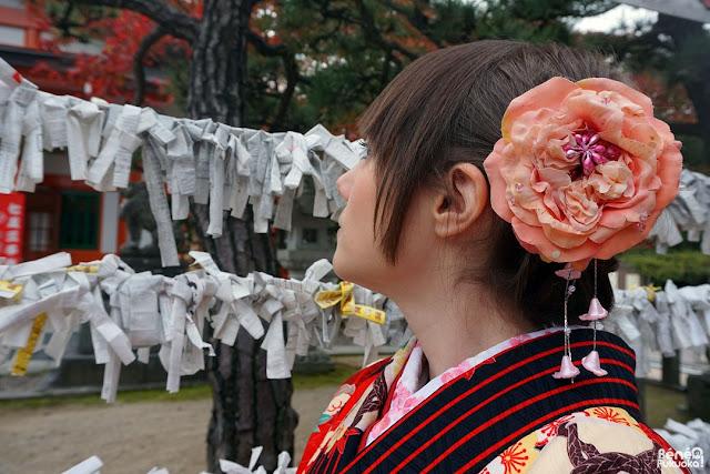 秋の髪飾り、福岡