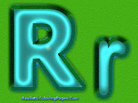 Printable R Letters Alphabet Coloring Pages